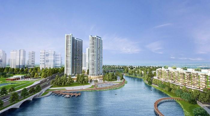 """""""Dự án phát triển khu cao tầng hàng đầu hàng đầu Việt Nam"""" Aqua Bay Sky Residences với 7 tòa tháp hiện đại cao từ 30 đến 36 tầng."""