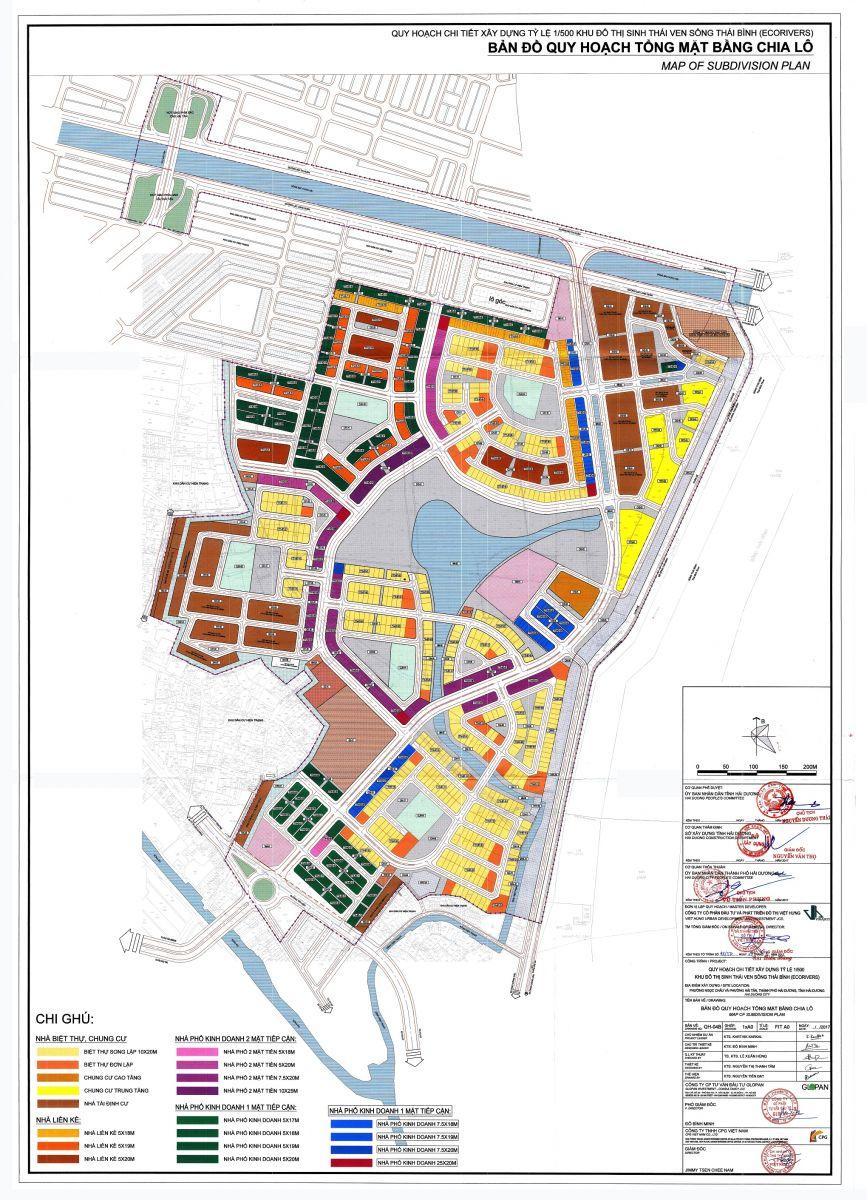 Bản đồ dự án ecorivers hải dương